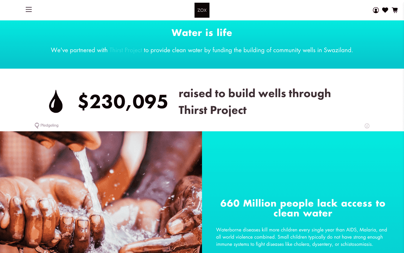 ZOX and Thirst Project
